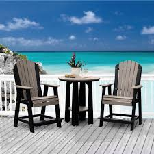 Breezesta Coastal Bar Chair by Poly Lumber Polywood Outdoor Counter Height Sets