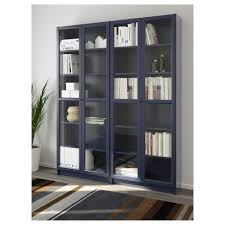 billy oxberg bookcase white glass 160x202x28 cm ikea