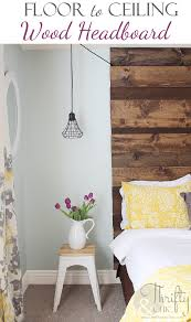 Wood Headboard Diy Thrifty And Chic Diy Projects And Home Decor