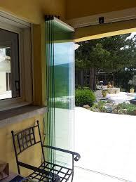 voile d ombrage enroulable rideau de verre fermeture de balcon terrasse pour particuliers