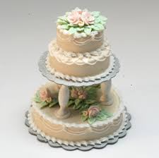 3 tier wedding cake prices ecru 3 tier wedding cake w pink roses stewart dollhouse creations