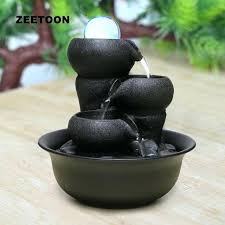 Home Decor Water Fountain Indoor Bamboo Tabletop Water Fountain