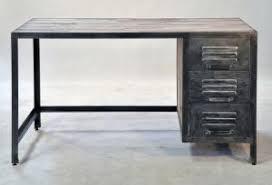 bureau style atelier bureau en bois recyclé et métal dans le style atelier industriel