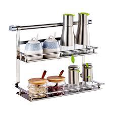 mensola portaspezie guh cucina in acciaio inox mensola rack di stoccaggio mensola da