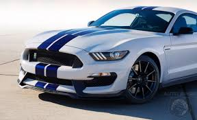 white mustang blue stripes laautoshow what s white with blue stripes and has 500 horsepower