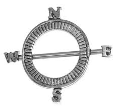 nipple rings jewelry images Compass nipple ring with shield and straight barbell 14 gauge jpg