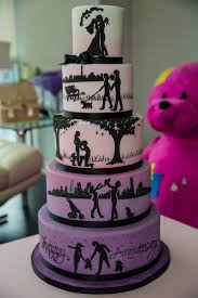 Halloween Themed Wedding Cakes Best 20 Silhouette Cake Ideas On Pinterest Anniversary Cake