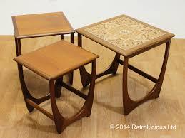 g plan fresco nest of tiled teak tables coffee tables retro eames