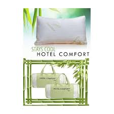 Hotel Comfort Memory Foam Pillow Hotel Comfort Bamboo Pillow Queen Covered Memory Foam With Travel Bag