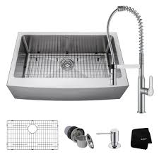 kraus farmhouse sink 33 kraus all in one farmhouse apron front stainless steel 33 in 0 hole