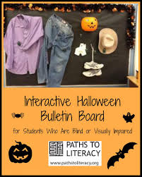 interactive halloween bulletin board for students with visual