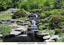 Rock Garden Waterfall Cascade Rock Garden Waterfall New York Stock Photo 639903853