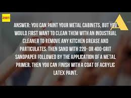 what kind of paint on kitchen cabinets what kind of paint to use on metal kitchen cabinets youtube