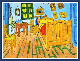 van gogh bedroom painting the bedroom by vincent van gogh watercolor salt painting for kids