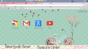 chrome themes cute theme google chrome spring for circle by minniegirl3 on deviantart