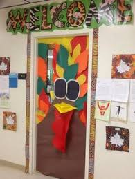 turkey thanksgiving classroom school door decoration fall fall