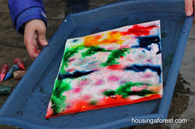 rain painting housing a forest