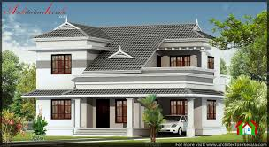 slope house plans slope roof style 3 bedroom house architecture kerala