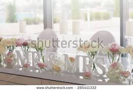 mr mrs wedding table decorations mr mrs wedding table decorations wedding stock photo royalty free