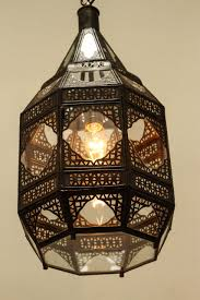 Moorish Design by Moroccan Moorish Clear Glass Lantern For Sale At 1stdibs