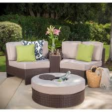 Patio Chairs With Ottoman Ottoman Included Patio Furniture Outdoor Seating U0026 Dining For