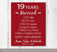 19th wedding anniversary gift 19th anniversary gift 19 years of mariage wedding