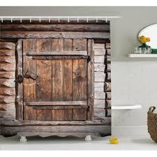 Shower Curtain Door Barn Door Shower Curtain Wayfair