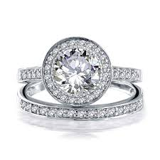 timeless wedding rings 925 sterling silver 2ct cz engagement wedding band ring set