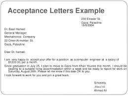salary acceptance letter format letter format 2017