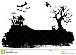 Halloween Silhouette Halloween Silhouette Background Stock Vector Image 45077467