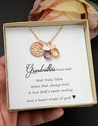 s day necklace with birthstone charms ships next day gift mothers day gifts birthstone