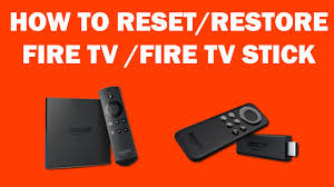black friday amazon fire stick how to reset or restore fire tv stick youtube