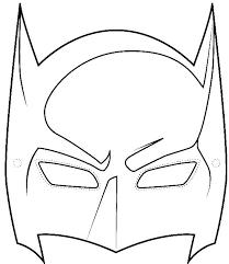 coloring appealing batman mask drawing draw coloring