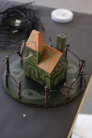 make your own halloween decorations miniature haunted houses