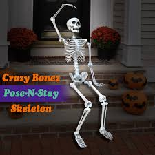 posable halloween skeleton poseable 5 6 u0027 crazy bonez pose n stay life size skeleton halloween