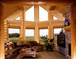 Pictures Of Log Home Interiors Fabulous Log Home Interior Decorating Idea For Living Room With