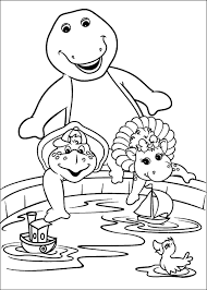 barney coloring pages