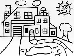 house coloring pages printable funny coloring