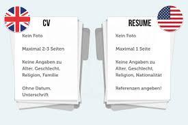 Cv Vorlage Englisch Usa Lebenslauf Auf Englisch Tipps F禺r Resume Und Cv Karrierebibel De