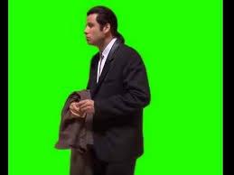 Meme John Travolta - confused john travolta meme green screen chroma key download