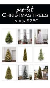 the best artificial trees on a budget 2017 prelit trees