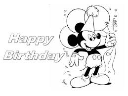 Happy Birthday Mickey Mouse Coloring Page Color Luna Mickey Mouse Coloring Pages