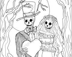 dead wedding coloring pages coloring