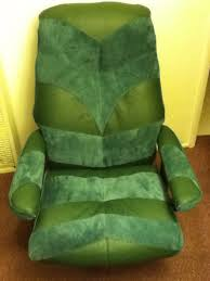 sold green leather and green leather suede combo custom ekornes