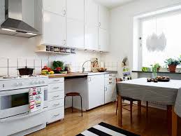 designing small kitchens with modern red and white kitchen theme