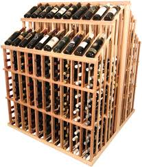 double deep island wine display commercial wine rack