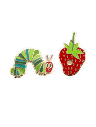 very hungry caterpillar strawberry enamel pin pair the eric very hungry caterpillar strawberry enamel pin pair