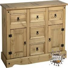 corona pine sideboard cupboard display cabinet glass front buffet