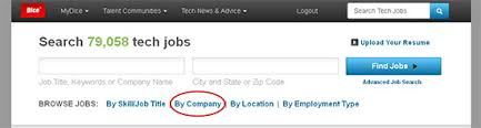 Dice Resume Search How To Search For Jobs By Company