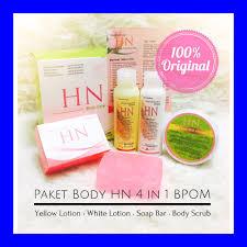 Pemutih Hn bpom original paket hn 4in1 perawatan pemutih kulit tubuh 4 in